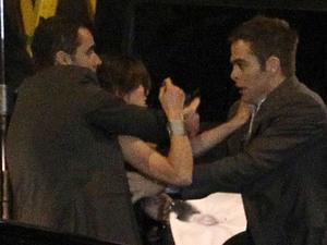 Hollywood stars Chris Pine and Keira Knightley shoot scenes for the upcoming Jack Ryan movie on location in Liverpool. Two sets have been built in Liverpool City Centre, including one recreating a Russian city and the other mimicking New York. Jack Ryan, played by Chris Pine, rescues his girlfriend Cathy, played by Keira Knightley, from a black Land Rover amongst shady spy characters. Pine was seen leaping out of a Mercedes SUV and opening the door to the Land Rover, before dragging Knightley out of the car as his partner shoots at the other driver with a handgun. His partner then grabs Knightley and bundles her into their Mercedes SUV before they speed off. As they drive off, Pine and Knightley can be seen in the back of the car having an emotional reunion after her kidnap ordeal.