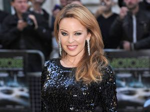 Kylie Minogue at 'Holy Motors' premiere, London.