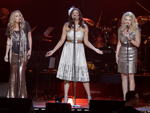 From left, Ashley Monroe, Angaleena Presley and Miranda Lambert perform at the Girls' Night Out: Superstar Women of Country in Las Vegas on Monday, April 4, 2011.