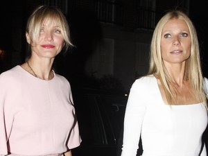 Cameron Diaz and Gwyneth Paltrow at the Obama Victory Fund 2012 dinner at Mark's club London