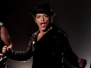 Bruno Mars in Funny or Die 'Whatta Man' music video.