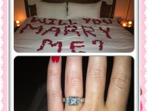 Image tweeted by Ashley Monroe following the proposal of boyfriend John Danks