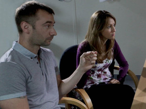 Marcus accompanies Maria to the clinic where she has tests on a lump in her breast. The results are inconclusive
