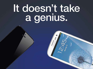 Samsung advert which compares the spec between it&#39;s own Galaxy SIII against Apple&#39;s iPhone 5
