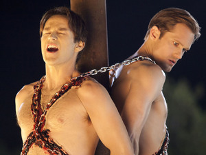 Stephen Moyer, Alexander Skarsgard, True Blood stills