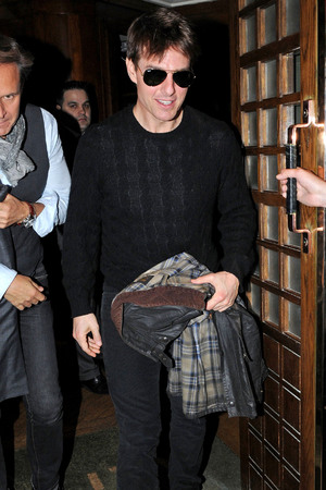 Tom Cruise leaves The Ivy Restaurant, London.