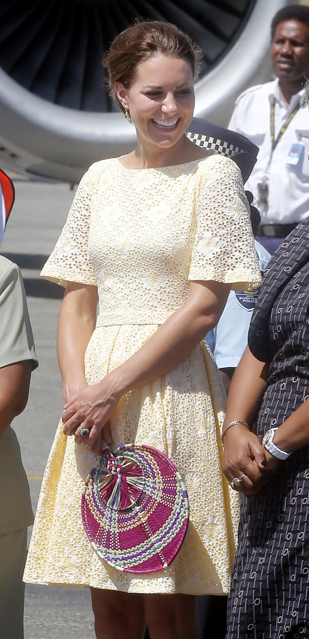 Duchess of Cambridge, Honiara airport, Solomon Islands
