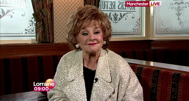 Barbra Knox appears on 'Lorraine'  to discuss her 42 years of being in ITV soap Coronation street Shown