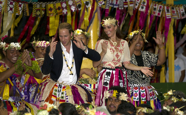 Duchess of Cambridge, Prince William, Vaiaku Falekaupule