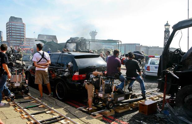 Wreckage scenes