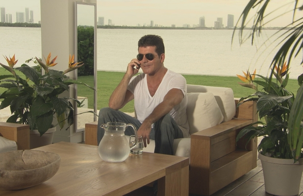 Simon Cowell calling the judges after the X Factor Boot Camp