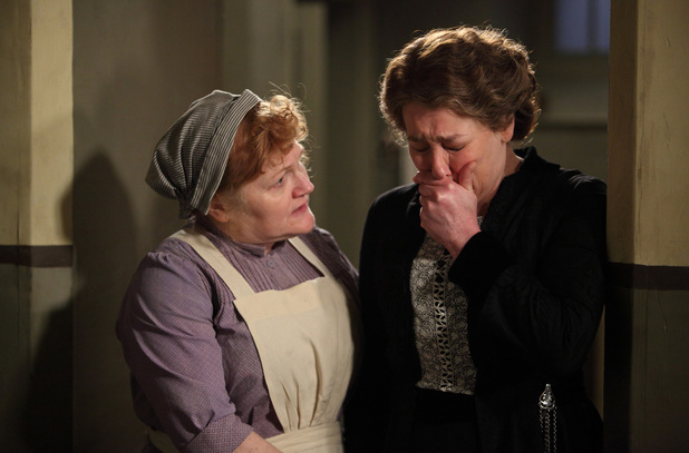 Lesley Nicol as Mrs Patmore, Phyllis Logan as Mrs Hughes