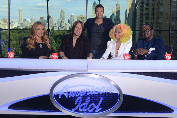 &#39;American Idol&#39; new judges Nicki Minaj, Mariah Carey and Keith Urban join Randy Jackson and host Ryan Seacrest for filming in New York City - September 16, 2012