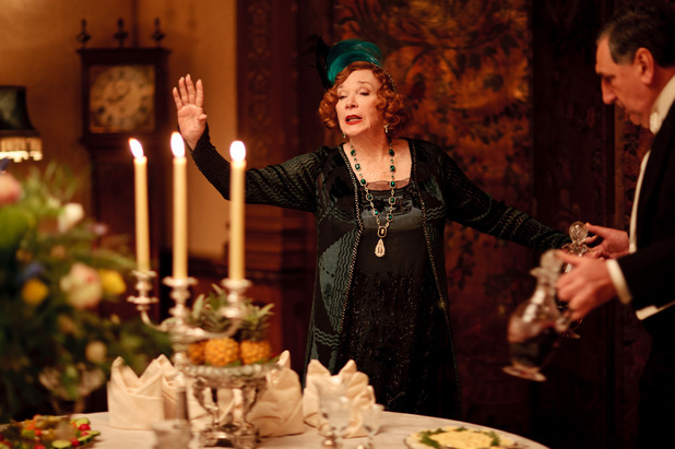 Downton Abbey S03E02: Shirley MacLaine as Martha Levinson, Jim Carter as Carson