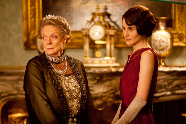 Maggie Smith as Dowager Countess of Grantham, Violet, Michelle Dockery as Lady Mary
