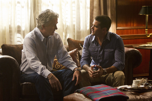 Patrick Duffy as Bobby Ewing and Jesse Metcalfe as Christopher Ewing