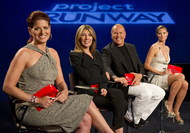Project Runway 20/09 - Guest judge Debra Messing, Nina Garcia, Michael Kors and Heidi Klum