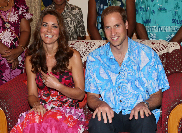 Duchess of Cambridge, Prince William, Governor General Frank Kabui in Honiara, Solomon Islands