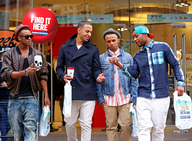 JLS leave the Carphone Warehouse