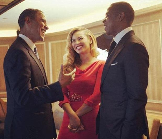 Barack Obama meets Jay-Z