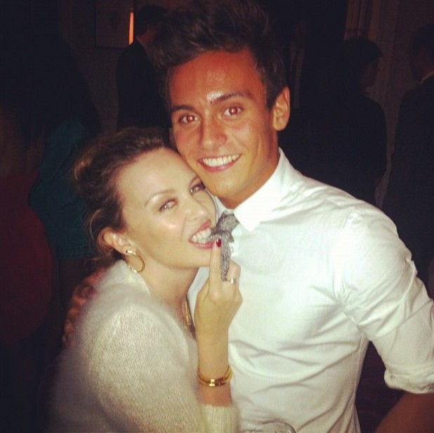 Tom Daley, Kylie Minogue, twitter