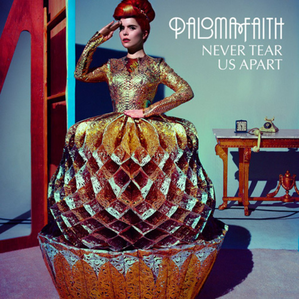 Paloma Faith 'Never Tear Us Apart' single artwork.