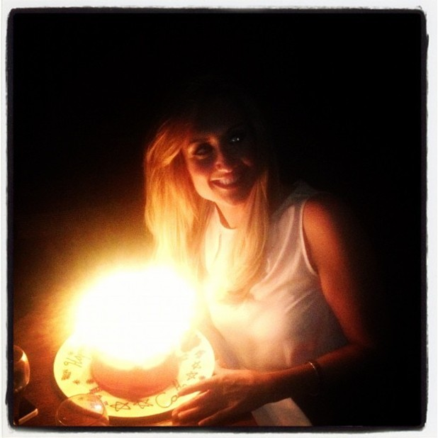 Coronation Street actress Catherine Tyldesley with her birthday cake - September 18, 2012