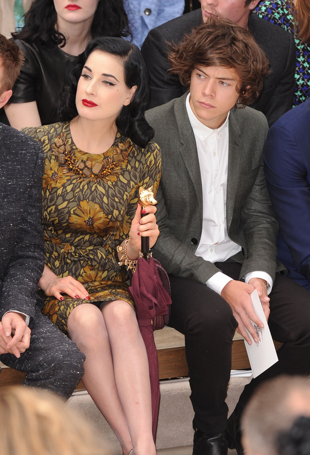 Dita Von Teese and Harry Styles