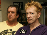 John Lydon, right, formerly known as Johnny Rotten, and Steve Jones, of the Sex Pistols