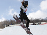 Shaun White competes in the men's halfpipe finals at the U.S. Open Snowboarding Championships in Stratton, Vt., on Saturday, March 10, 2012.