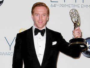 Damian Lewis with his Lead Actor In A Drama Series award at the 64th Annual Primetime Emmy Awards press room