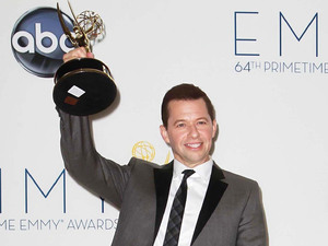 Jon Cryer with his Lead Actor In A Comedy Series award at the 64th Annual Primetime Emmy Awards press room