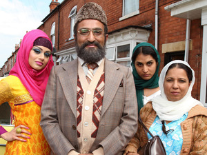 Citizen Khan: Alia (BAVNA LIMBACHIA), Mr Khan (ADIL RAY), Shazia (MAYA SONDHI), Mrs Khan (SHOBU KAPOOR)