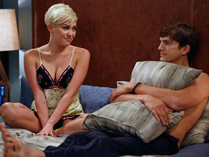 Miley Cyrus appearing in &#39;Two and a Half Men&#39; alongside Ashton Kutcher