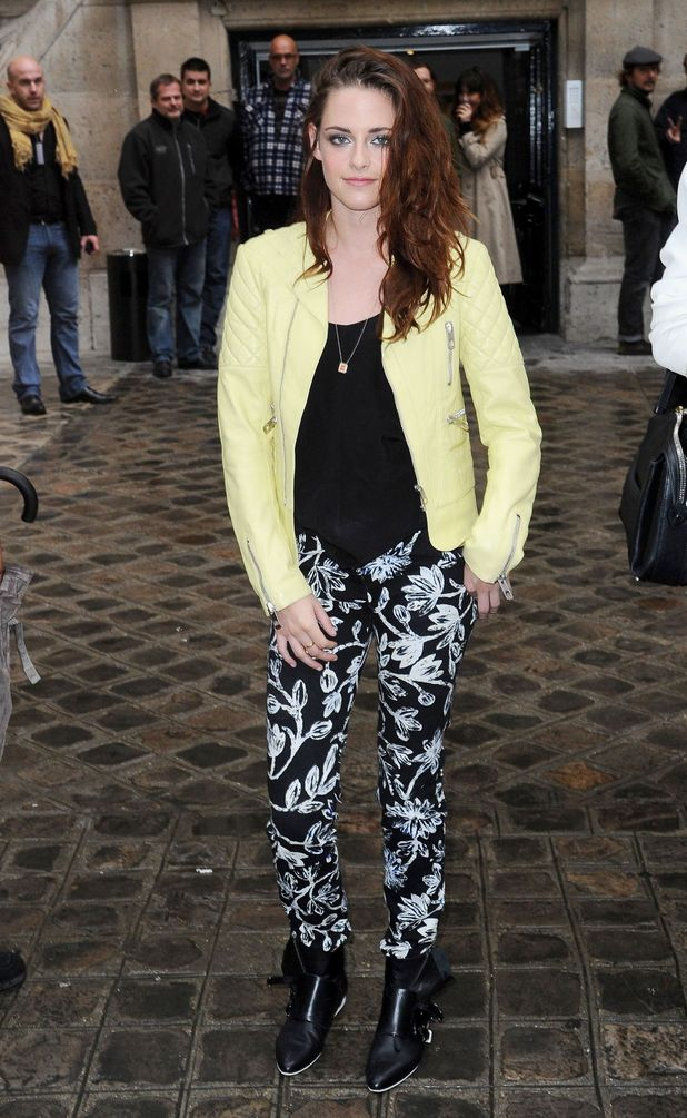 Kristen Stewart, Balenciaga show, Spring Summer 2013, Paris Fashion Week