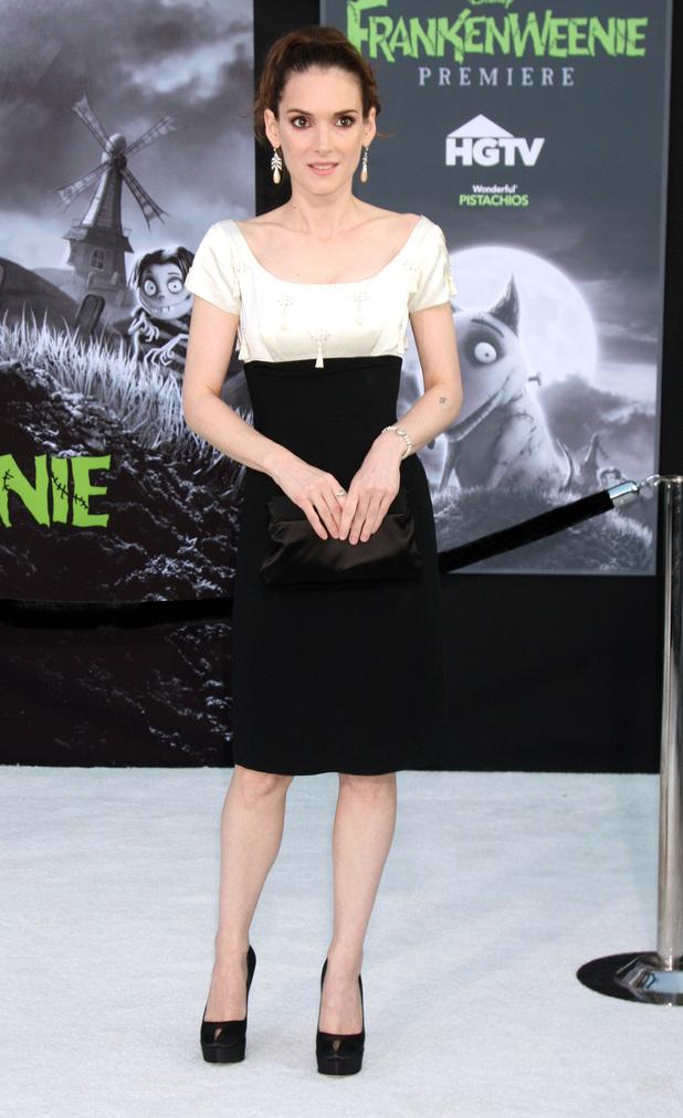 Winona RyderDisney's 'Frankenweenie' premiere at the El Capitan Theatre