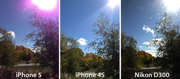 iPhone 5 in &#39;purple flare&#39; camera issue