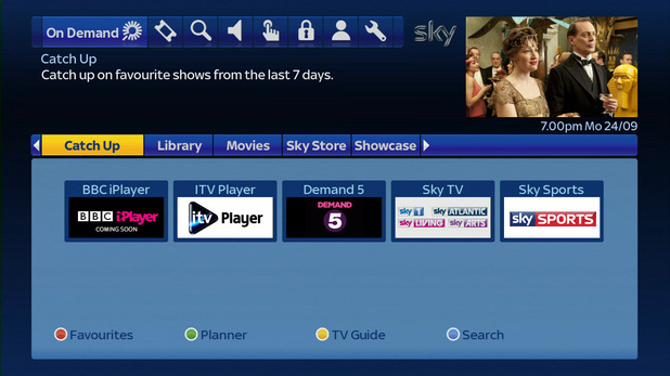 Sky+ catch up guide