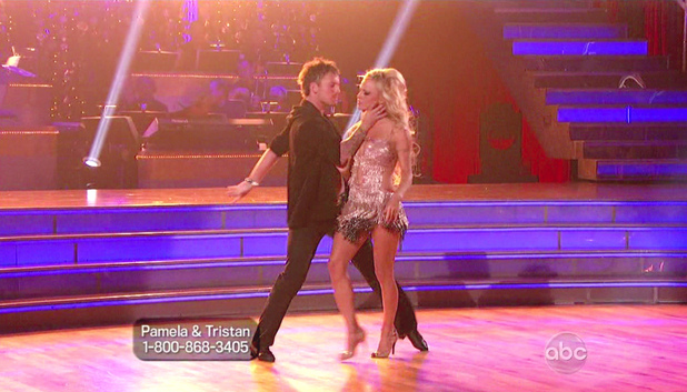 Dancing With The Stars S15E01: Tristan MacManus and Pamela Anderson