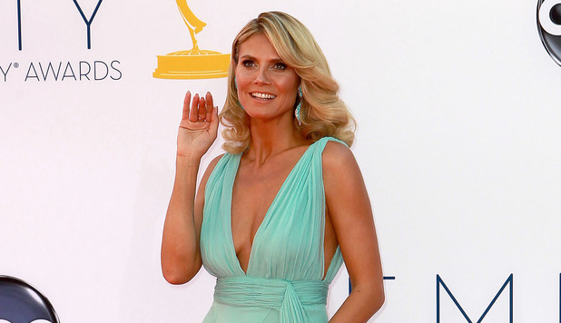 Heidi Klum 64th Annual Primetime Emmy Awards, held at Nokia Theatre L.A. Live - Arrivals Los Angeles, California