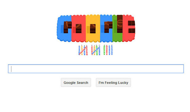 Google doodle celebrates own birthday