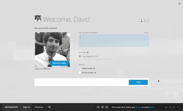 The new MySpace look - screenshots