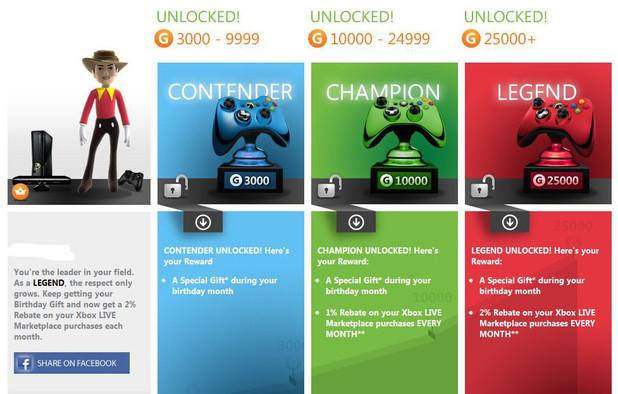 Microsoft Xbox Live Rewards scheme