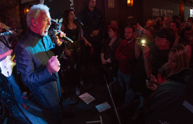 Tom Jones performs as part of Guinness celebrations for Arthur's Day
