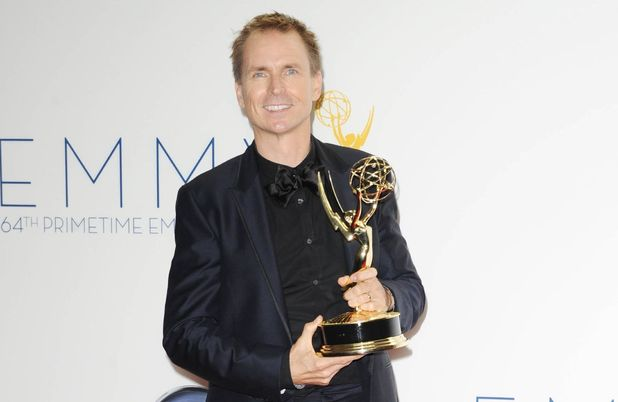 Phil Keoghan with his Outstanding Reality Show Host award at the 64th Annual Primetime Emmy Awards press room