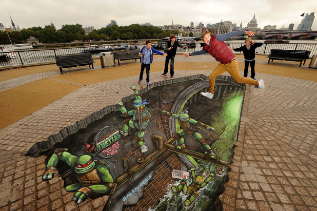 Teenage Mutant Ninja Turtles 3D street art
