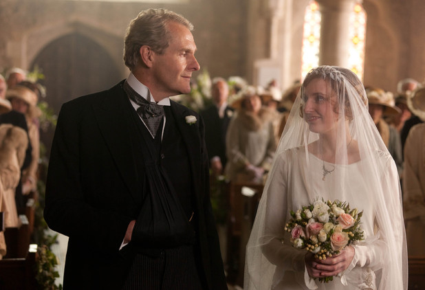 Robert Bathurst as Sir Anthony Strallan, Laura Carmichael as Lady Edith