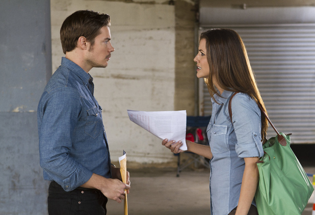 Josh Henderson as John Ross Ewing and Julie Gonzalo as Rebecca Sutter
