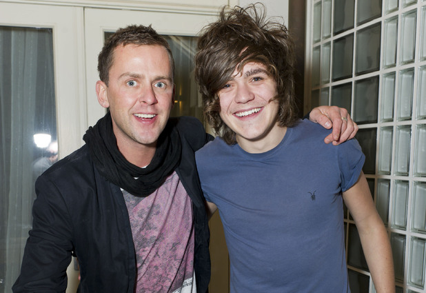 Scott Mills with Frankie Cocozza