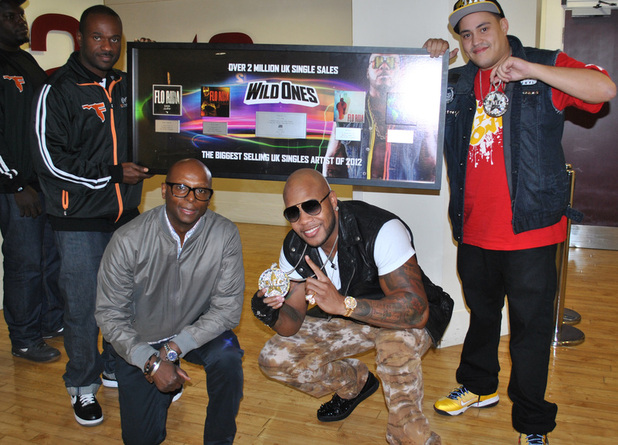 Flo Rida crowned best selling UK singles artist of 2012 on Daybreak